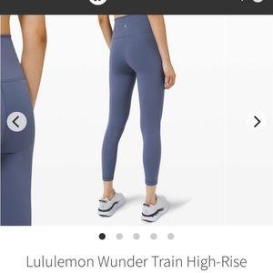 lululemon athletica Pants & Jumpsuits - Wunder train ink blue
